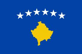 Bandera del nuevo estado de Kosovo