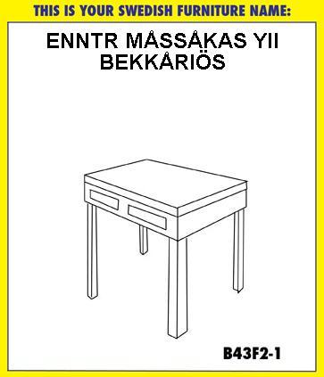 Tu nombre al estilo IKEA