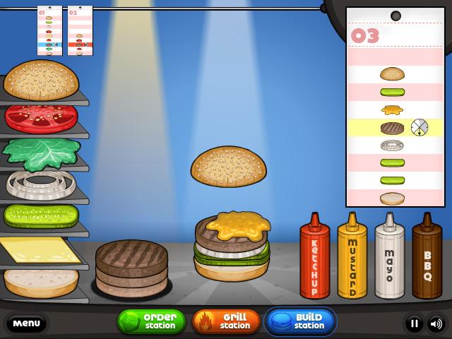 Papa s burgeria - Jeux de cuisine papa louis ...