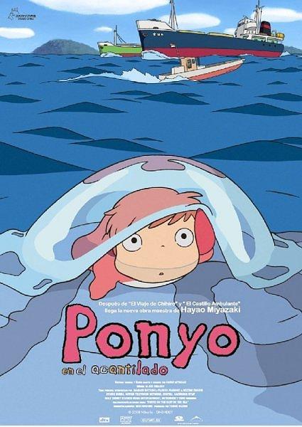 Ponyo en el acantilado de Hayao Miyazaki