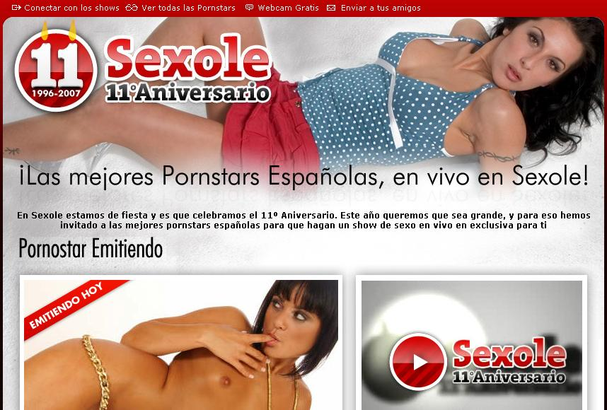 Sexole 11º aniversario, webcams de Pornostars