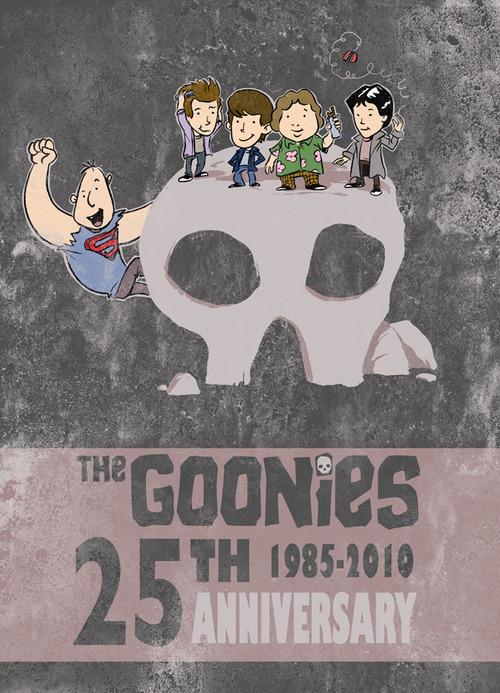 Poster del 25 aniversario de Los Goonies