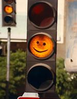 Semaforo sonriendo…