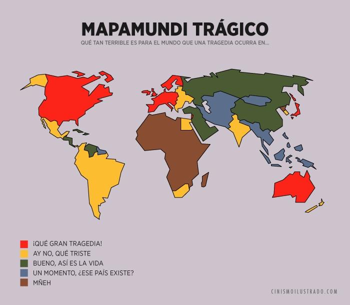 Mapamundi trágico